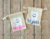 Tooth Fairy Bag - Tooth Fairy Pouch - Personalized Tooth Fairy Bag - Personalized Tooth Fairy Pouch - Tooth Keepsake