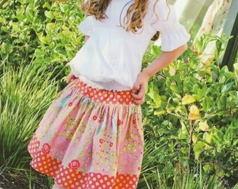 The Girly Skirt Pattern for Sizes 6 mos to 10 years by Pink Fig Patterns (PFP4)