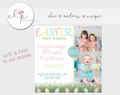 Photography Marketing Board -- Newsletter Templates PSD-- Easter  Mini Session -- Photoshop Template  -- Spring Mini Session