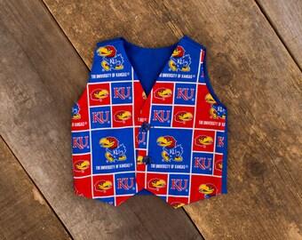 KU Kansas Jayhawks Baby Boy Newborn Toddler Ring Bearer Vest
