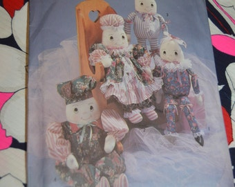Simplicity Crafts 7311 Stuffed Egghead Doll and and Clothes Sewing Pattern - UNCUT - One Size