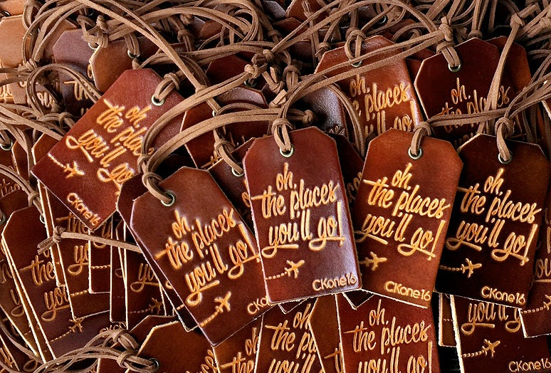 Wedding Favor Luggage Tags Leather : Personalized Luggage Tags Genuine Leather Bulk Wholesale
