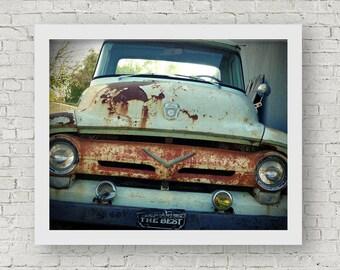Truck Art, Garage Art, Ford Truck, Old Truck Photo, Ford Truck Art, Truck Pictures, Truck Photography, Truck Photos, Truck Artwork