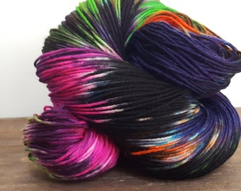 Over the Moon~ Hand Painted Superwash Merino wool & Nylon Sock Yarn- 420yds - sw 80/20- Do you believe in magic