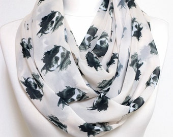 Dog Scarf Cavalier King Charles Spaniel Infinity scarf, Circle scarf, Loop scarf, Scarves, Shawls, spring - fall - winter - summer fashion