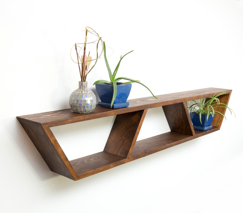 Innovative Wall Shelves: Geometric Wall Shelf Modern Floating Shelves Book Shelf