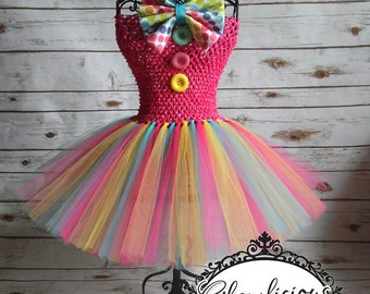 Clown Tutu dress Costume | Clown costume | Halloween Costume| Newbonr- size 8 child listing