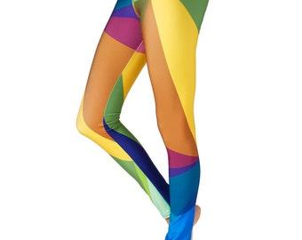 Yoga Pants Printed Leggings Mustard Leggings Digital Print Leggings Fall Leggings Yoga Leggings Yellow Leggings Fitness Leggings