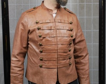 Leather Hussar Jacket, Napoleonic Uniform