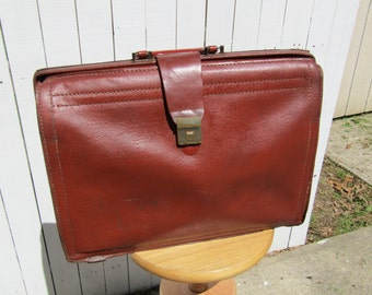Leather Attache, Brief Case, Doctors Bag, Gladstone Bag