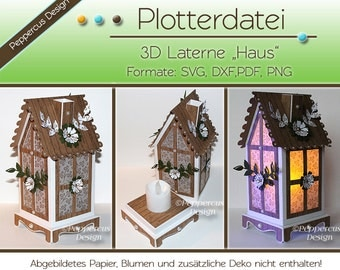 Plotter file - 3D Lantern House