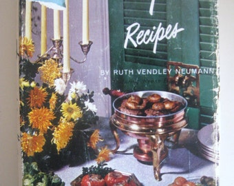 Conversation Piece Recipes by Ruth Vendley Neumann -- 1962 hardcover cookbook