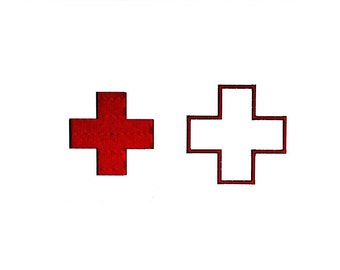 Red Cross Embroidery Design & Appliqué in 3 sizes