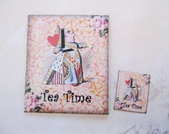 Tea/Seed Bag Envelopes - Alice In Wonderland - Drink Me - Qty of 6 Envelopes