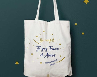 Bag request witness, witness of love, tote bag personalized gift bag Tote, WHERE, bag witness bridesmaid, wedding, announcement