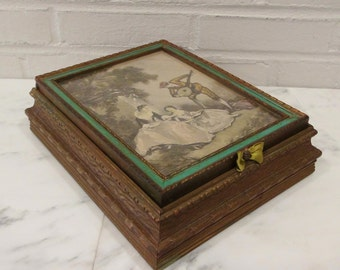 Antique Jewelry Box / Vanity Box / Early 1900's