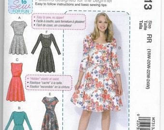 M7313 McCall's Dress Sewing Pattern Sizes 18W-20W-22W-24W