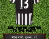 Premier League Football Printable Invitation