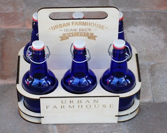 Gifts for Men, Best Man Gift, 6 Pack Beer Holder, Personalized Beer Carrier, Home Brew, Custom Groomsmen Gift, Wedding Beer Labels