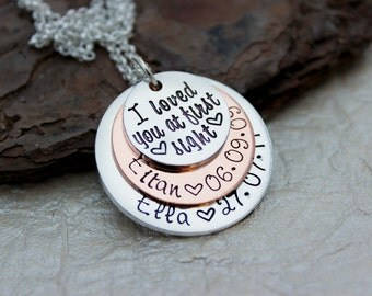 Personalized Mom Necklace - Mommy Jewelry - Grandma Necklace - Mom Gift - New Mom Necklace -  I love you Necklace - Mom Gift - Mother's Day