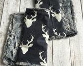 Gender Neutral Burp Cloths, Deer Burp Cloths by BizyBelle *Baby Gift