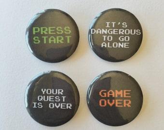 Retro Video Game Pin Set