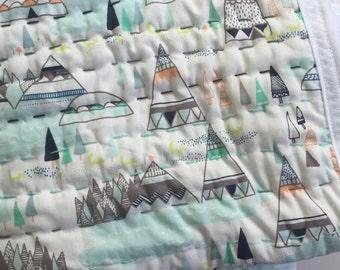 Handmade Kantha Quilt / Baby Kantha Quilt / Crib Quilt / Hand Stitched Baby Quilt