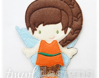 Woodland Fairy A Felt Paper Doll Toy Outfit Digital Design File - 5x7