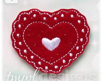 "Valentine Heart B Feltie Digital Design File - 1.75"""