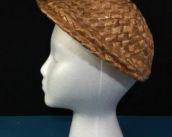 Vintage 1960s Eva Mae Off Face Straw Hat