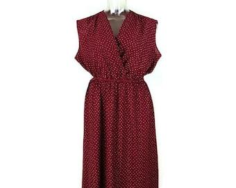 Vintage Burgundy Sheer Sleeveless Sun Dress from 1970's/Hippie boho*