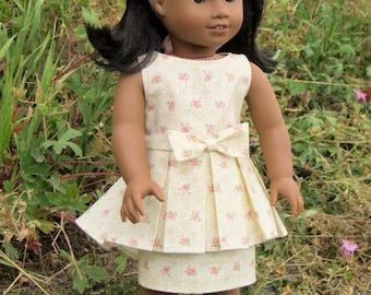 "1960s Peplum Dress Pattern for 18"" dolls"