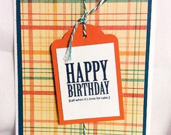 Plaid Birthday Cards- Set of 3