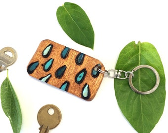 Blue Raindrops Key Chain