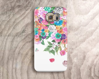 Floral Samsung Galaxy S6 Case Samsung Galaxy S5 Case S5 Cover Floral iPhone 6 Case Vintage iPhone 6 Case Retro iPhone Cases White Samsung