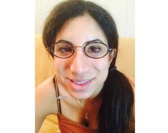 Vintage HIERO Round Eyeglasses Frame in Brown Black (HIE-02)