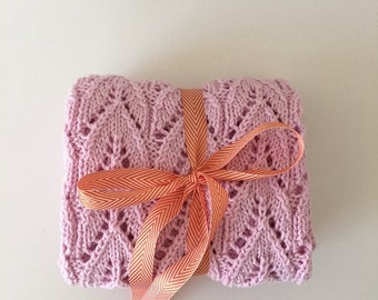 Baby Blanket in Cotton-Pink