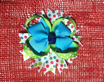 Cheerful Hair Bow with Spikes