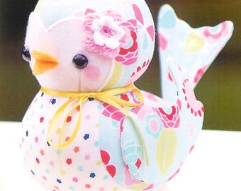 Pattern ''Bonnie Bluebird'' Soft Sculpture, Stuffed Toy, Softie, Cloth Toy Sewing Pattern by Melly & Me (MM148)