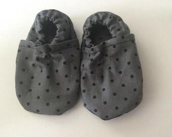 Polka Dot Baby Crib Shoes