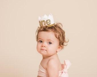 Baby Birthday Crown || 1st Birthday Crown || First Birthday Crown  || Birthday Crown || Girl Birthday Crown || White Birthday Crown