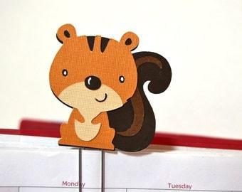 Squirrel Planner Clip, Page Clip, Bookmark, Paper Clip, Handmade