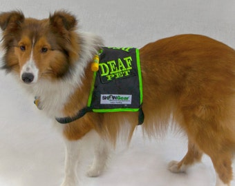 Deaf Dog Safety Vest, Safety Alert High Visibility Vest
