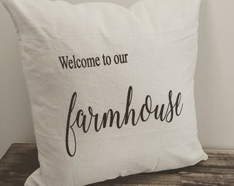 Welcome to our farmhouse pillow cover