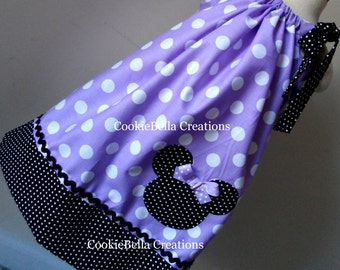 Minnie Mouse Lavender Polka Dot Pillowcase Dress