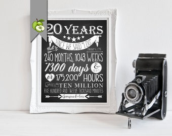 20th wedding anniversary | Etsy UK