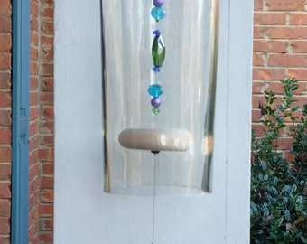 Dragonfly Wine Bottle Wind Chime
