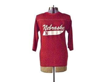 Vintage Nebraska Tee Shirt, Nebraska Football, Cornhusker, University Nebraska, UNL T-Shirt Tee Shirts