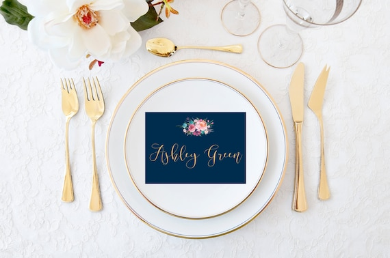 Printable calligraphy place cards