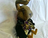 Primitive Bunny Doll, Easter Rabbit Doll